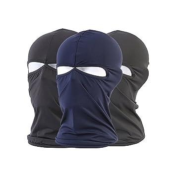 Pasamontañas máscara de esquí motocicleta ciclismo Lycra tela transpirable máscara 2-Pack