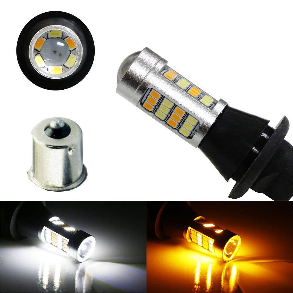 Ijdmtoy 2 42 Smd High Power 1156 7506 7527 Single Mercedes C250 Fuse Box Filament Switchback Led Bulbs For Daytime Running Lights Turn Signal Lamp