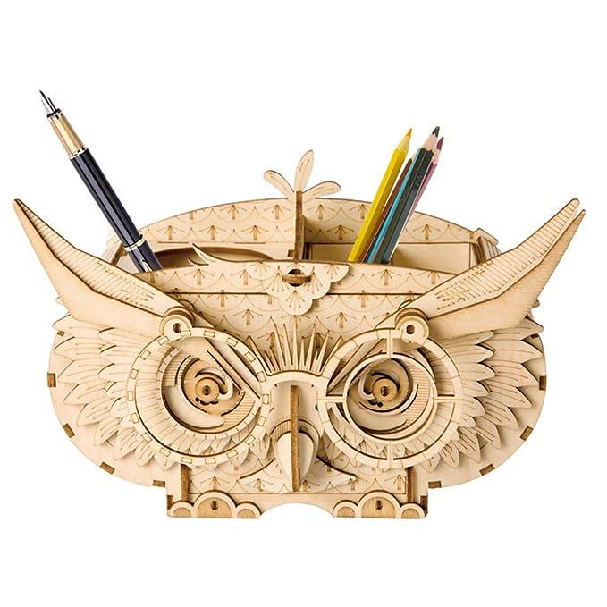 Yvsoo Puzzle 3D Puzzles Madera DIY Bloques de Construcción Modelo de Juguete (Noria)