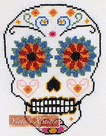 Amazon Sugar Skull No1 Counted Cross Stitch Kit
