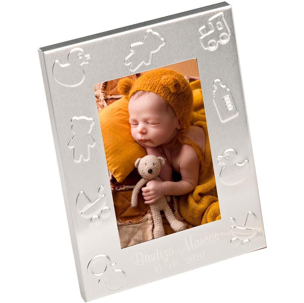 Baby Shower. Marco de Fotos Recuerdos para Bautizo con grabaci/ón Lote de 12 Unidades Detalles para Invitados a un Bautizo
