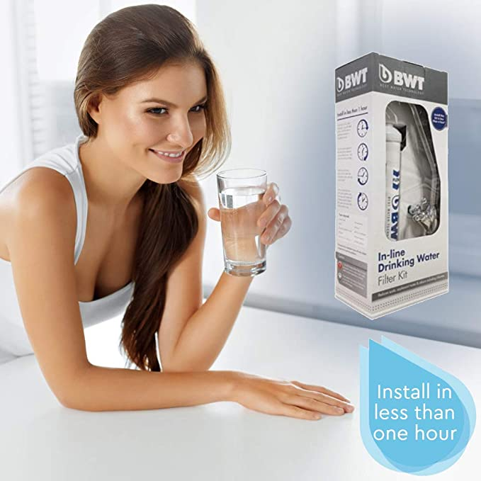 Chrome Finish Tap BWT DWFKIT Inline Drinking Water Filter Kit