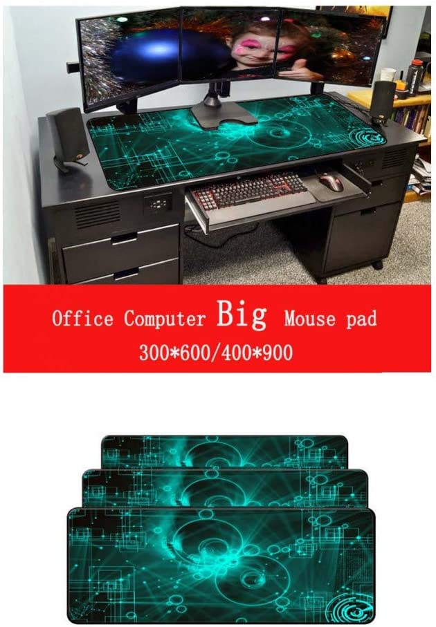 WHFDSBD Mouse Pad Black Lock Edge Desk Keyboard Mouse Mat Large Game Mousepad Gamer