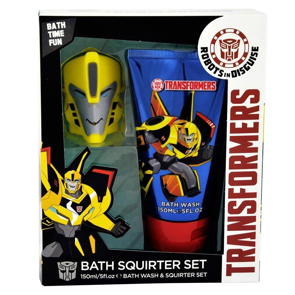 Transformers Body Wash Bad Set mit Bumblebee Squirter Kinder Bad Set, 2-teilig Corsair