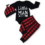 Newborn Baby Boy Girl Clothes Little Man Long...