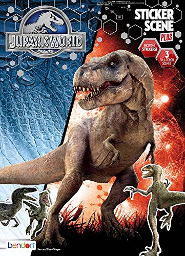 Bendon Jurassic World Sticker Scene And Coloring Book Playset