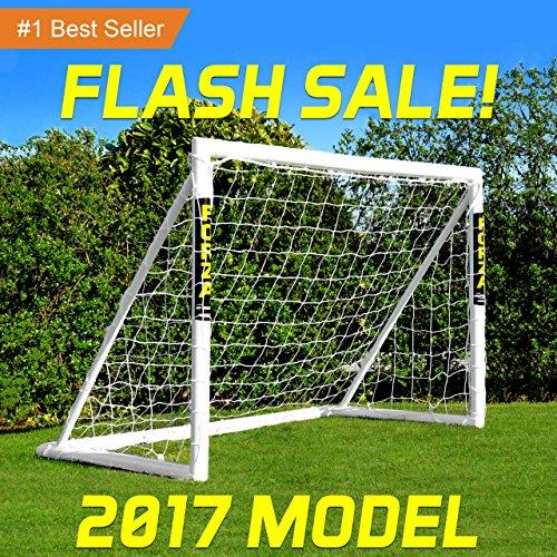 FORZA Soccer Goal (New & Improved Model!) (3 x 2.5 foot > 12 x 6 foot) - The Best Backyard Soccer Goal! [Net World Sports] (8 x 6 foot)