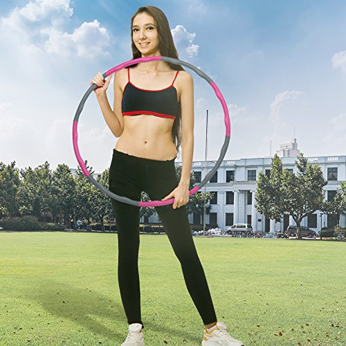 "Weighted Hula Hoop|Fitness Workout Dancing Sport Exercise Hoop|Perfect Weight Loss Equipment|2.16LB(Dia.37"") Large