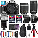 Holiday Saving Bundle for D3300 DSLR Camera + AF 70-300mm G Lens + AF-P 18-55mm + Flash with LCD Display + 6PC Graduated Color Filter Set + 2yr Extended Warranty + 32GB - International Version