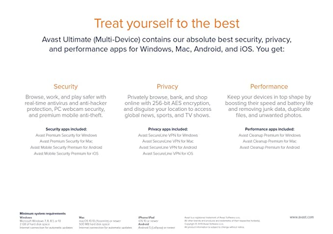 Avast Ultimate 2020 | 10 Devices, 2 Years [PC/Mac/Mobile Download]