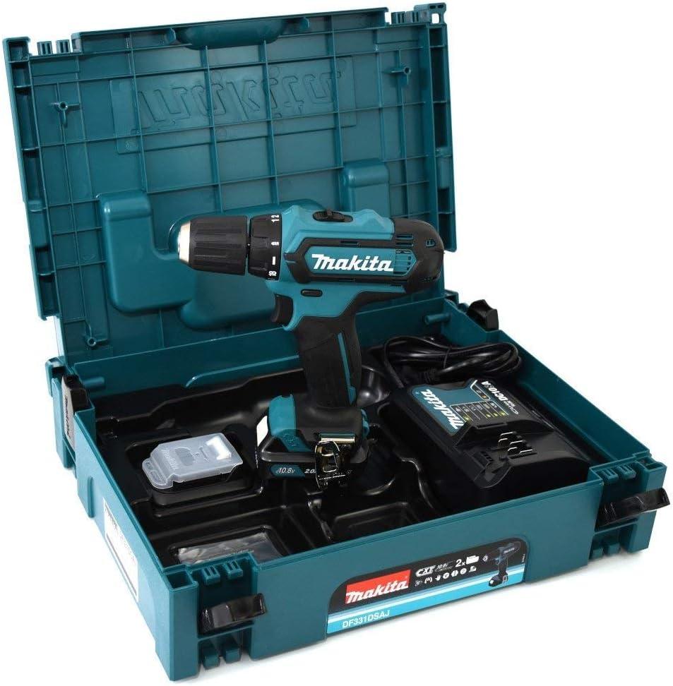 Makita incluye 2 bater/ías de 2,0 ah Df331dsaj taladro atornilladora
