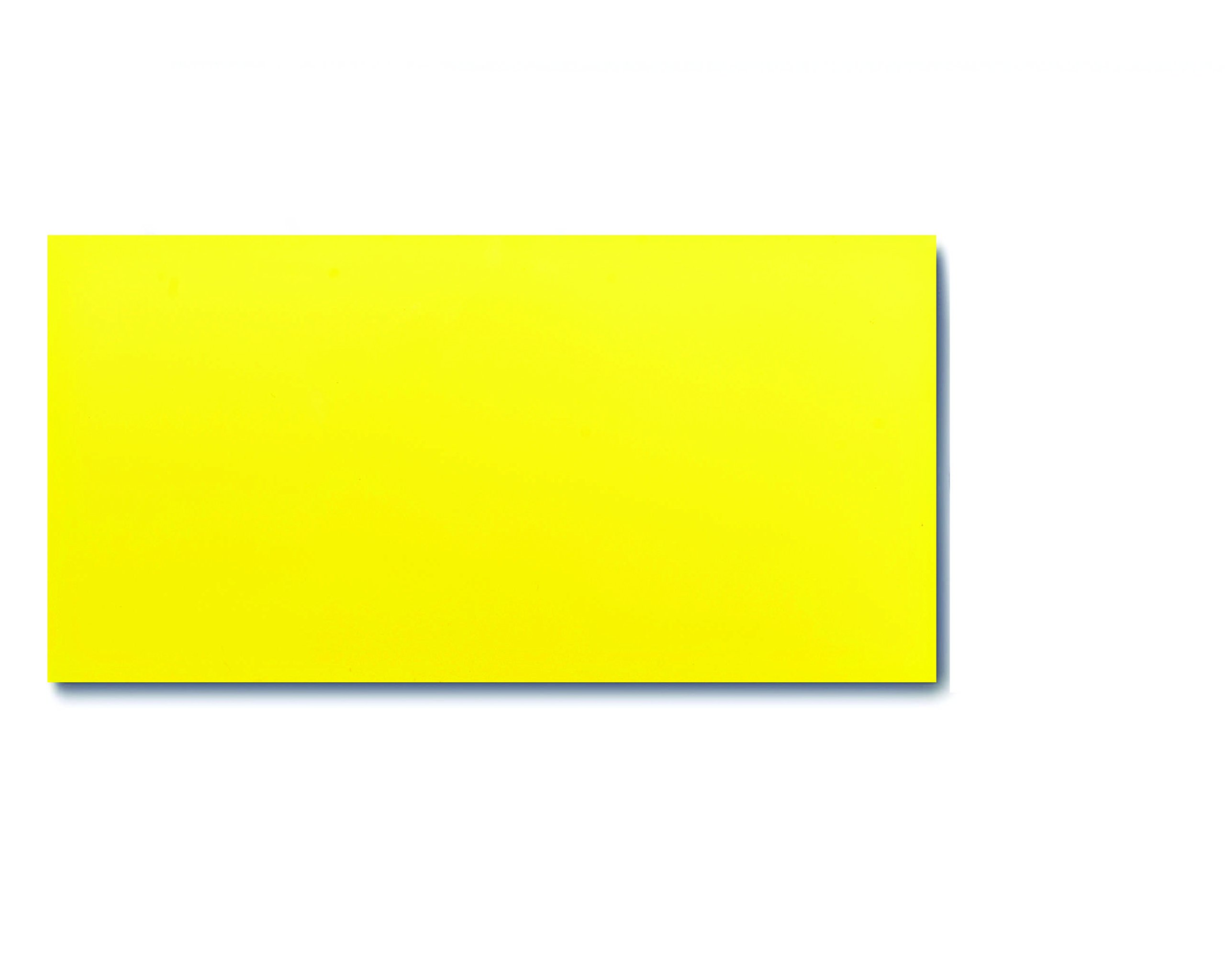 25 Dry Erase Magnetic Shelf Labels 2'' x 4'' - Yellow - 20 mil - Write On/Wipe Off