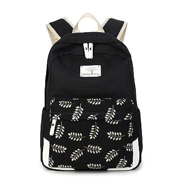 Mochila de impresión Mochila Femenina de lona Mochilas adolescentes para niñas adolescentes Mochila de regreso a las mochilas escolares para adolescentes ...