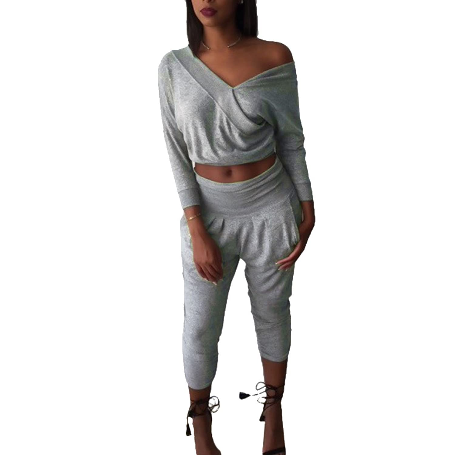 Women's Athletic Soft Warm Hoodie and Sweat Pants Suit Set Tracksuit with Pockets