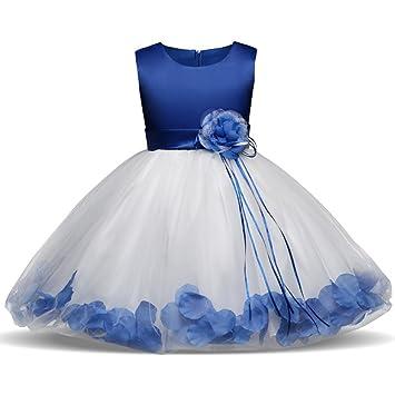 QSEFT Niñas Princesa Vestido Niños Navidad para Niñas Traje Elegante Niñas Vestido  De Boda Niños Vestidos a44f3a0ffc7