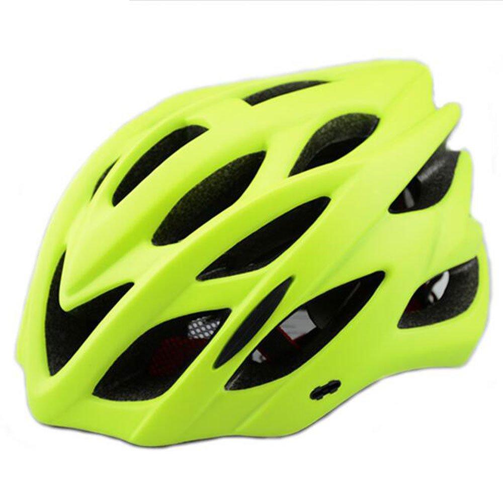 ZJX Casco De Bicicleta Al Aire Libre EPS Luz De Ventilación De Moda Y Cómoda Seguridad Casco De Cuatro Estaciones Neutral Adecuado para La Circunferencia De La Cabeza (56-62CM),Yellow-OneSize