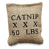 "LEAPS & BOUNDS Burlap Bag Catnip Cat Toy, 4"" L X 3"" W, 4 in, Brown"