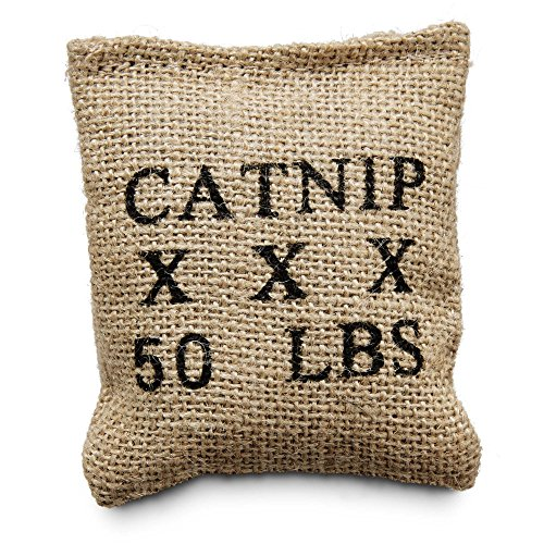 Leaps & Bounds Burlap Bag Catnip Cat Toy, 4