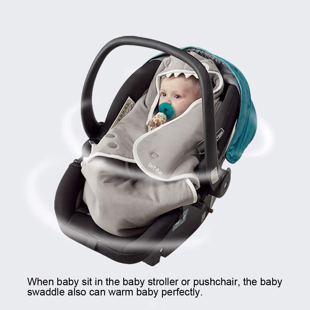 Bebamour Baby Swaddle Blanket Wrap Cotton Cotton Winter Baby Swaddle Wrap Nouveau-n/é Mignon Requin Con/çu B/éb/é Wrap Swaddle Wrap Rose