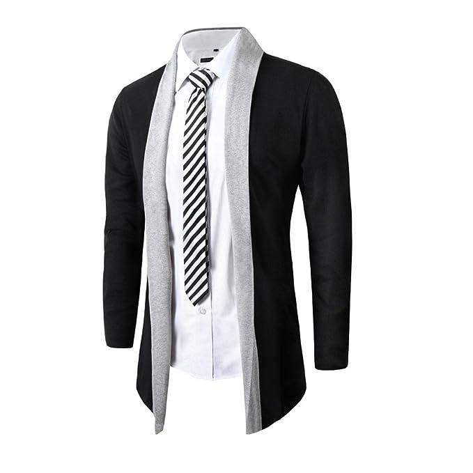 ❤ Modaworld Chaquetas Hombre, Chaqueta de Punto de Moda para Hombres Chaqueta de Manga Larga Delgada Abrigo Outwear Tops Ropa Otoño Invierno: Amazon.es: ...