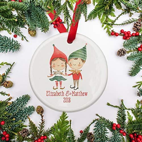 Personalized Brother Big Ornament (rfy9u7 Sibling Personalized Christmas Ornament Brother Sister Twins Elf Child Girl Christmas 2018)