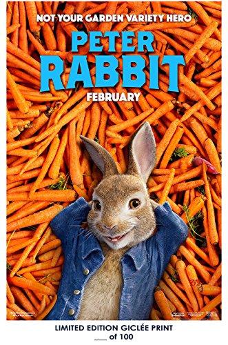 RARE POSTER thick PETER RABBIT movie REPRINT #'d/100!! 12x18