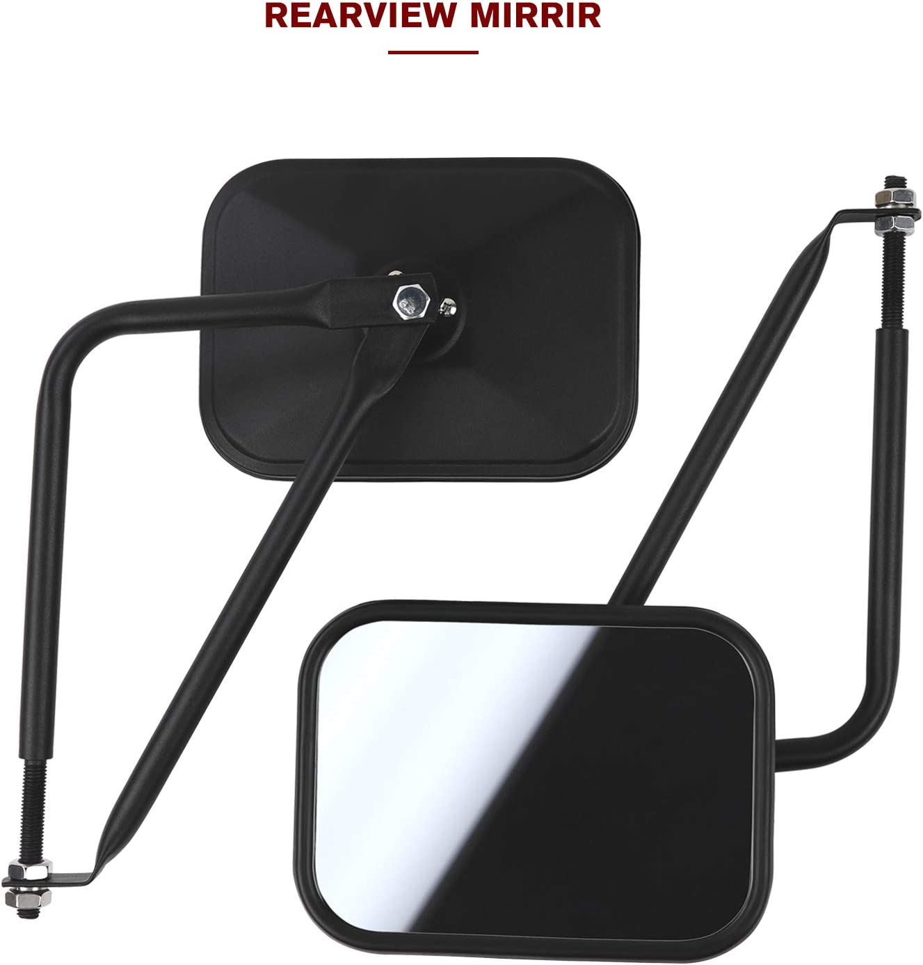 RT-TCZ Doors off Mirrors Quick Release Side View Mirrors Off Road Kit for 1997-2020 Jeep Wrangler YJ TJ JK JL /& Unlimited 2 Pack