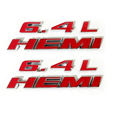 6.4L HEMI Badge Emblem Decal Sticker