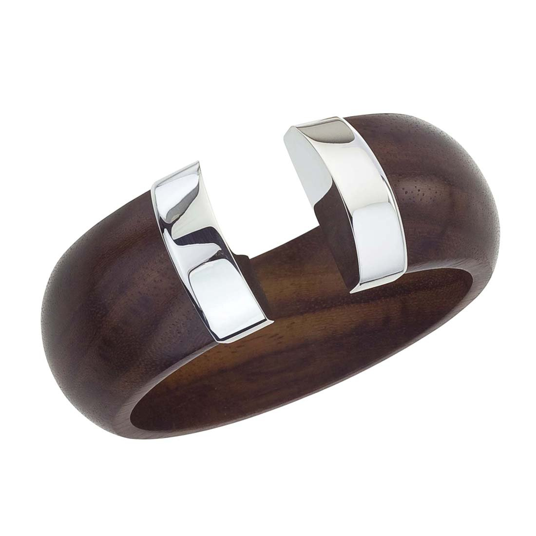 AX Jewelry The Branch Rosewood & Silver Tip Cuff
