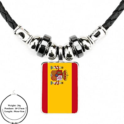 TUDUDU España Himno Y Bandera De Cristal Collar Declaración Negro ...