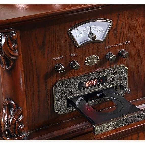 RAPLANC Reproductor de Discos de Vinilo Bluetooth con Tocadiscos ...