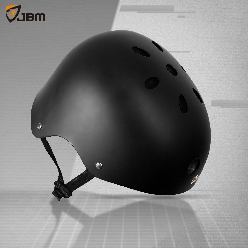 JBM Helmet for Multi-Sports Bike Cycling, Skateboarding, Scooter, BMX Biking, Two Wheel Electric Board and Other Sports [Impact Resistance] (Black, Adult) by JBM international (Image #9)