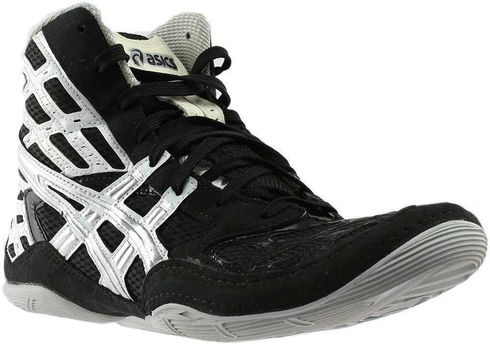 New Asics Men's Split Second 9 Wrestling Shoe Black/Titanium/White 9 by ASICS