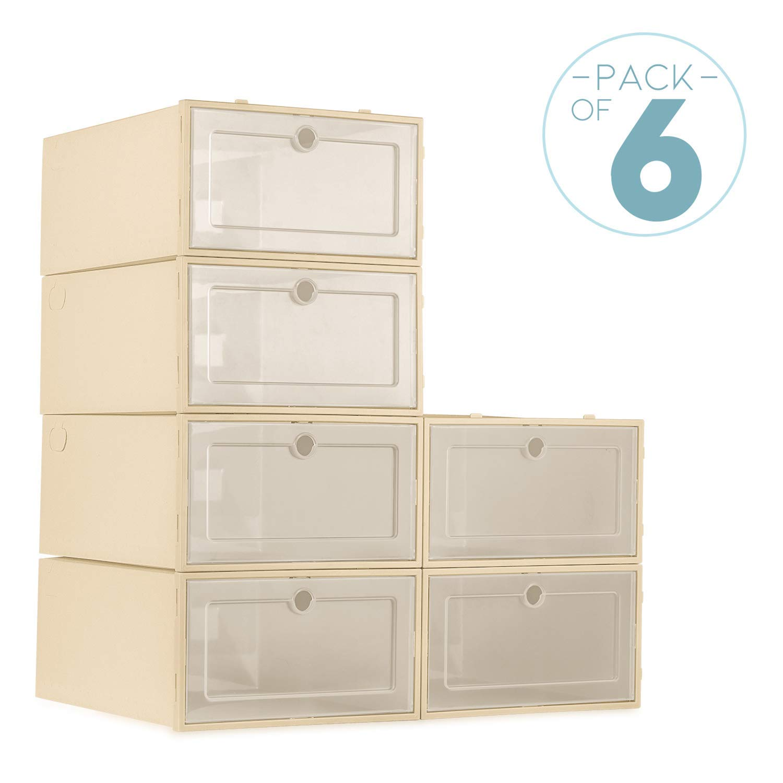 ZODDLE Foldable Shoe Storage Boxes-6 Pack by ZODDLE