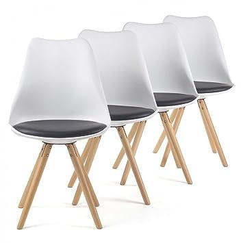 my sit chaise de design sige de bureau salle manger salon style rembourre pieds bois - Chaise Scandinave Rembourree