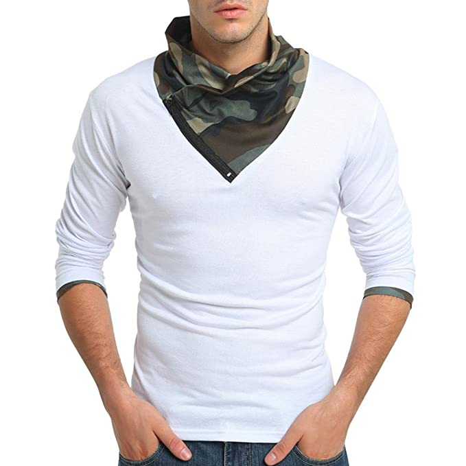 ♚Sudadera para Hombre con Cremallera,Camuflaje otoñal Manga Larga Cremallera Blusa Superior con Cremallera Absolute: Amazon.es: Ropa y accesorios