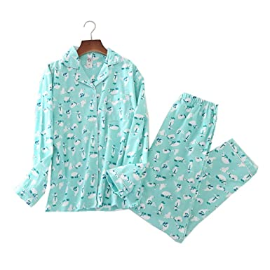 c9cecaa596 Comfy Pajamas for Womens Warm and Cozy 2-Piece Flannel Pj Set of Loungewear  Button