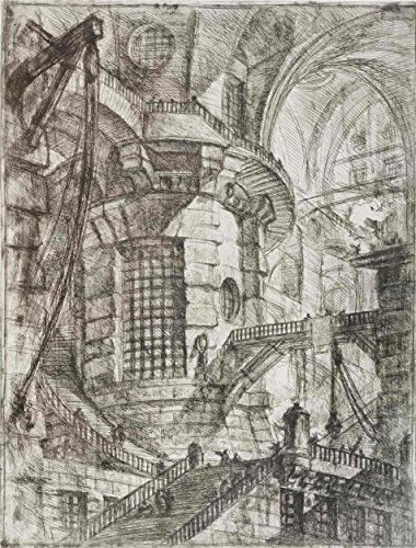 Oil Painting 'Round Tower, 1750 By Giovanni Battista Piranesi', 30 x 40 inch / 76 x 100 cm , on High Definition HD canvas prints is for Gifts And Bed - Sunglasses Johnson Don