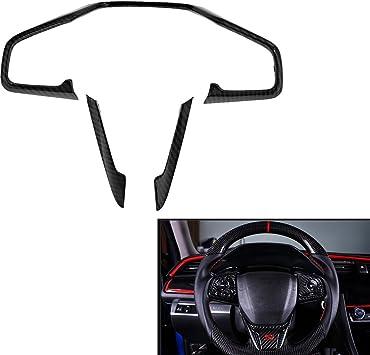 3PCS ABS Blue Interior Steering Wheel Cover Trim Strip For Honda CIVIC 2016-2018