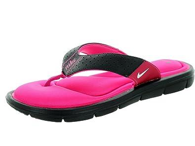 3385c733dd93 new zealand nike benassi womens slide ad4bd 89199  usa nike womens comfort  thong sandal 9 black vivid pink white 9603c 3b4cb