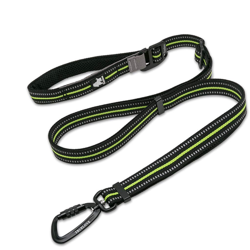 Green YUN Running Dog Leash Nylon Webbing Material Dog Chain Large Dog Length 110-200CM (color   GREEN)