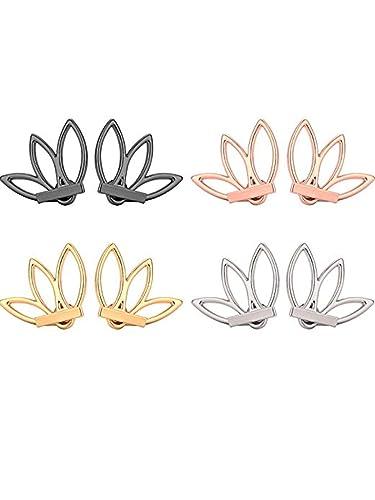 Amazon.com: Anqifull 2 pares de pendientes de flor de loto ...
