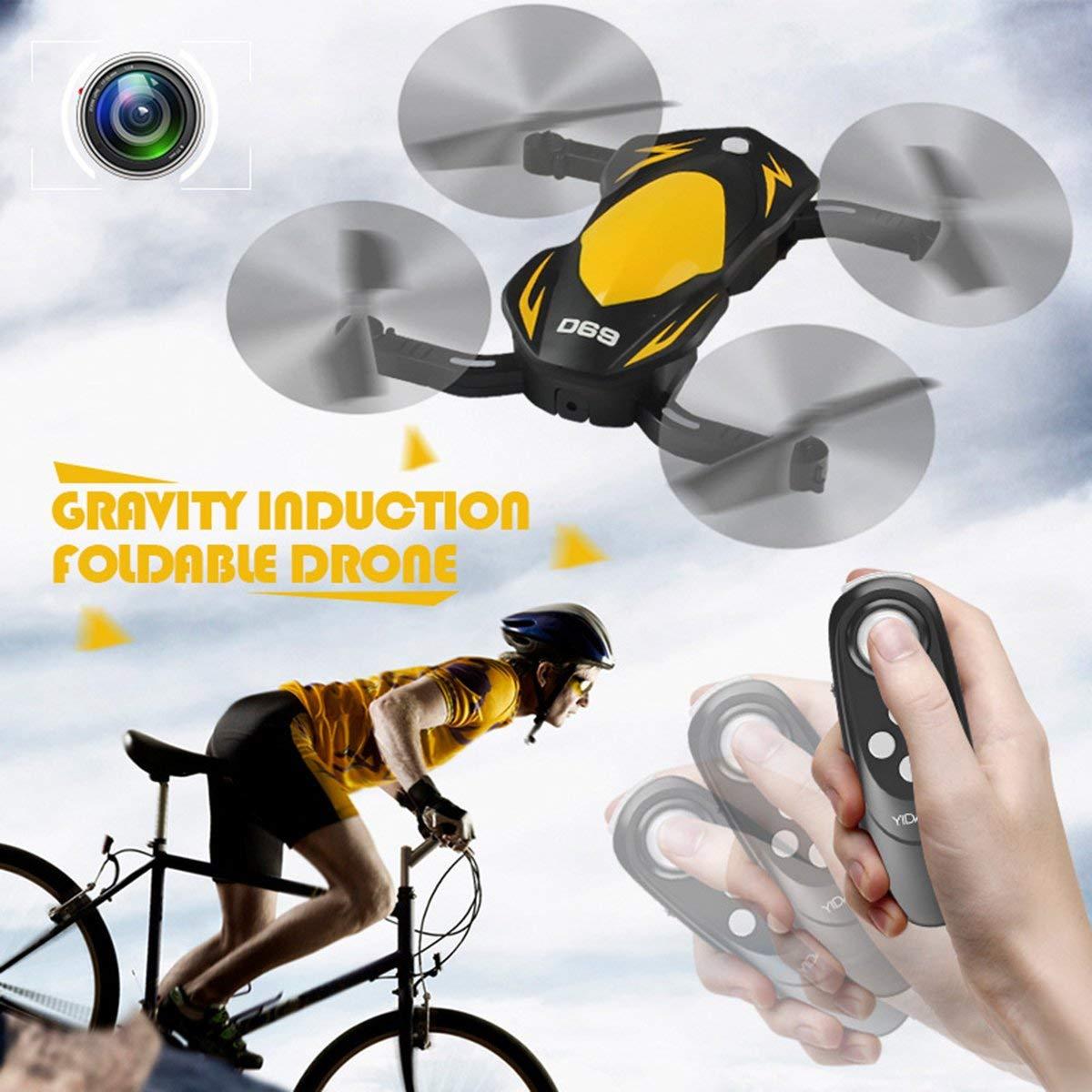 Gugutogo Drohne Mit Kamera D69W 30W Kamera Folding WiFi Schwerkraft Induktion Höhe Halten RC Quadcopter