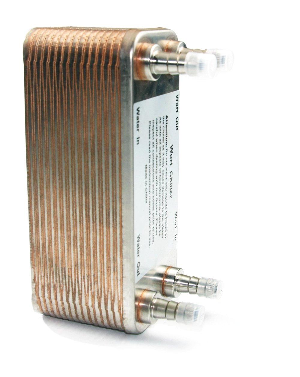 Brazed 50 Plates Heat Exchanger and Wort Chiller,50 Plates Wort Chiller R 3/4