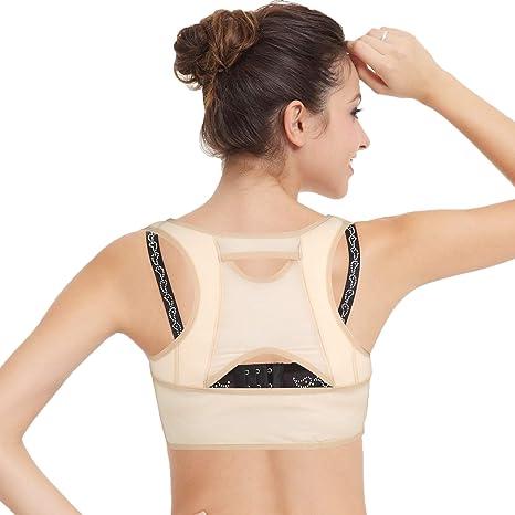 isermeo Sujetador Corrector de Postura con Soporte de Espalda en Para Mujer - M