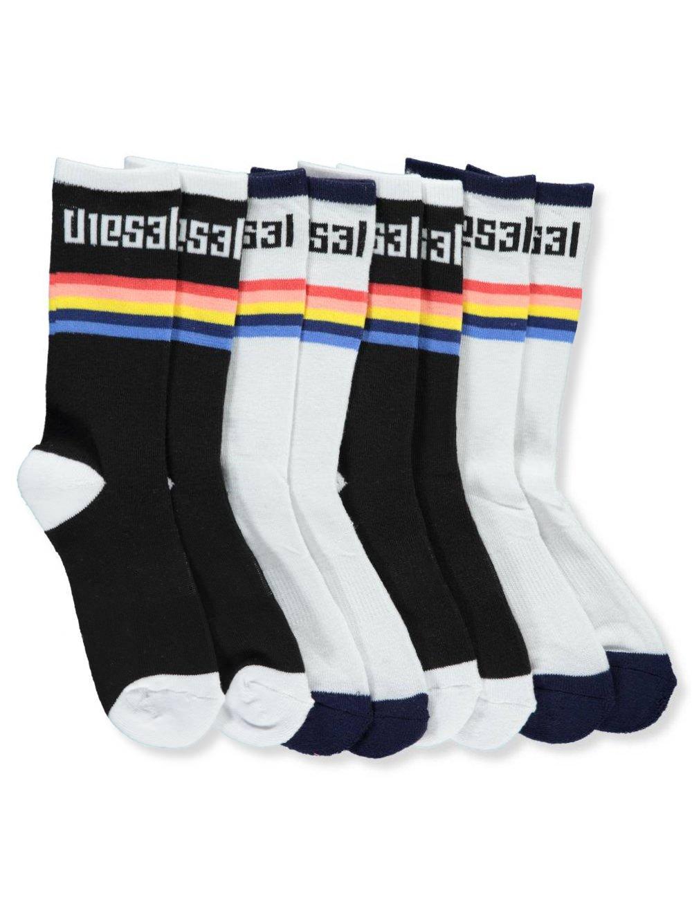 Diesel Boys' 4-Pack Crew Socks 7-8.5/3-7 years