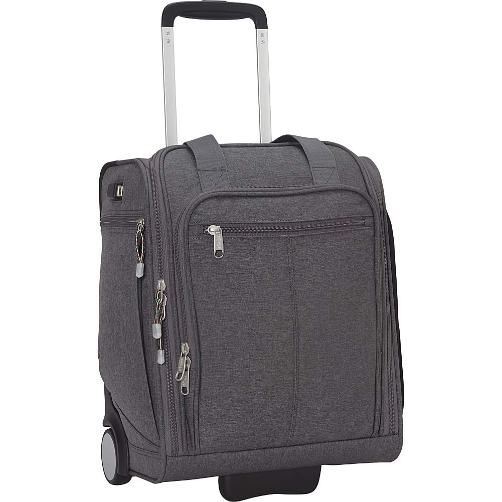 eBags Kalya Underseat Carry-on 2.0 with USB Port Heathered Graphite