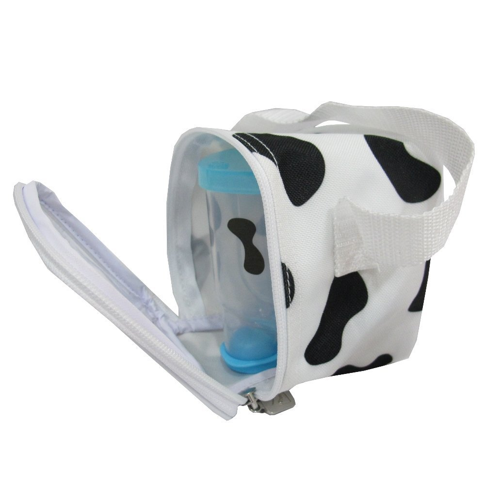 Basilic Baby Formula Milk Powder Dispenser/Snack Storage Cow Pattern - 3 Compartment (Blue)