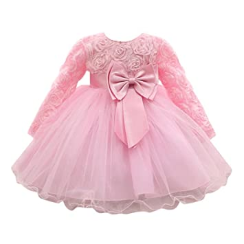 248b04c2f9 Feitong Flower Baby Girl Long Sleeved Tutu Princess Bridesmaid Pageant Gown  Birthday Party...
