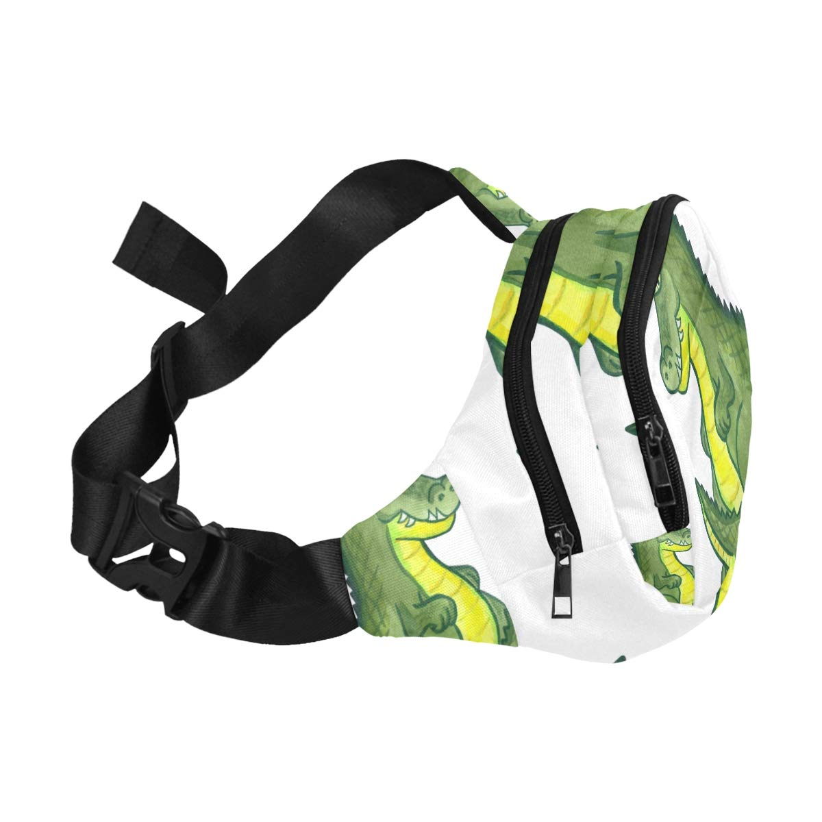 Alligator And Cactus Fenny Packs Waist Bags Adjustable Belt Waterproof Nylon Travel Running Sport Vacation Party For Men Women Boys Girls Kids